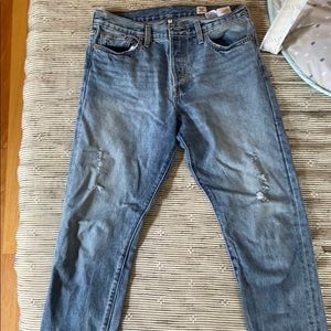 Levi's 501 wedgie fit